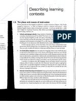 Chapter 7 Describing Learning Contexts