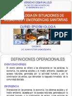 Epidemiologia en Situaciones de Desastres