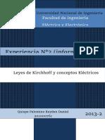 Informe FINAL - Leyes de Kirchhoff y Conceptos Eléctricos