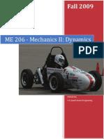 ME 206 - Dynamics