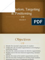 Segmentation , targeting and positioning