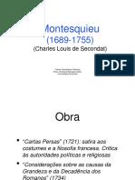 Revisão Geral 1ª Prova TSCA. Montesquieu, Tocqueville e Durkheimppt