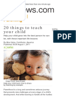 20 Things to Teach Your Child
