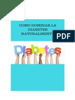 controlar la diabetes de forma natural si se puede