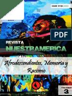 """Revista nuestrAmérica n°6, volumen 3 """"Afrodescendientes, memoria y racismo"""""""