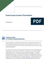 Fixed Income Investor Presentation 11-06-13