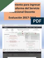 Orientaciones para ingresar a la plataforma del Servicio Profesional Docente y subir el Diagnóstico y Planeación, así como para realizar las Tareas Evaluativas. Docentes Educación Básica