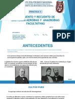 AISLAMIENTO Y RECUENTO DE BACTERIAS AEROBIAS Y  ANAEROBIAS FACULTATIVAS
