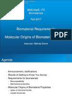 02 - BME-MatE 175 - F17 - Biomaterial Reqs Molecular Origins