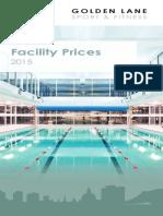2015 16 Golden Lane Price List