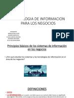 Tecnologia de Informacion Para Los Negocios