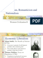 Liberalism, Romanticism and Nationalism