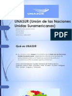 UNASUR (Unión de Las Naciones Suramericanas)