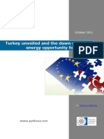 Turkey Unveiled and the Dawn of a New Energy Opportunity for the EU