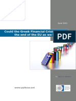 Could the Greek Financial Crisis Lead to the End of the EU as We Know It?