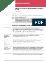 Information Sheet for LPA Form 1 (2014)