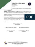 Comelec Resolution No 082010