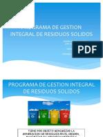 Programa de Gestion Integral