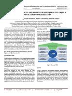 Implementation of 5S and KOBETSU KAIZEN (TPM Pillar) in a Manufacturing Organization