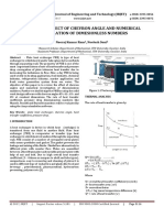 Review on Effect of Chevron Angle and Numerical Investigation of Dimensionless Numbers