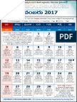 Telangana Telugu Calendar 2017 November