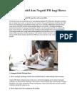 Dampak Positif Dan Negatif PR Bagi Siswa