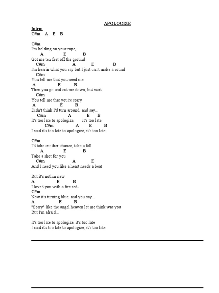 Collection Of English Songs With Chords Song Structure Leisure