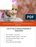 List of Top 5 Cancer Hospital in Delhi NCR -9718459379