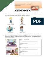 Backpack 1 - Homework - Unit 5A