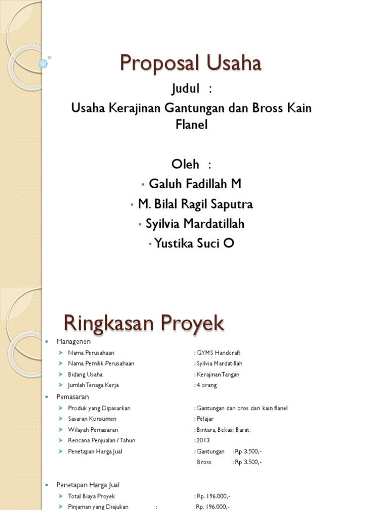 Contoh Proposal Usaha Kerajinan Tangan Dari Kain Flanel Berbagi Contoh Proposal