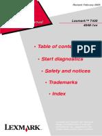 Lexmark t430 Laser Printer Service Manual