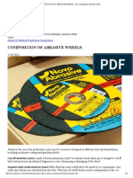 Composition of Abrasive Wheels - Novovodolazhsky Abrasive Plant
