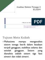 Analisa Sistem Tenaga II P1 (Pendahuluan)