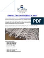 Stainless Steel Tube Suppliers in India