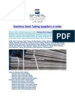 Stainless Steel Tubing Suppliers in India