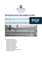 304 Stainless Steel Tube Suppliers in India