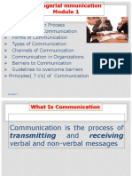 Managerial Communication Module 1