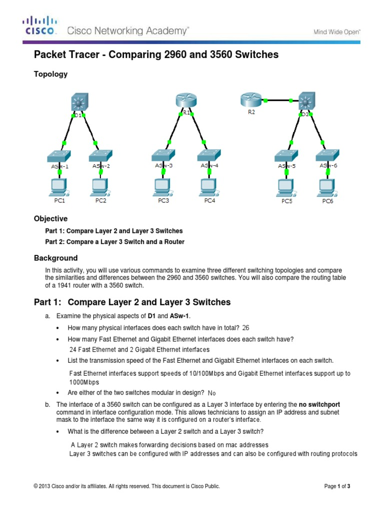 1217 packet tracer comparing 2960 and 3560 switches 1217 packet tracer comparing 2960 and 3560 switches instructions network switch ip address greentooth Images