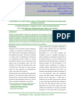 A Review on Captopril Oral Sustained-controlled Release Formulations
