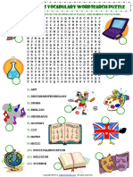 school subjects esl vocabulary wordsearch puzzle worksheet.pdf