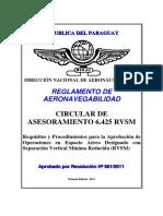 Circular de Asesoramiento 6425 (Rvsm) 2011