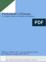 Parkinson's Disease - A Compl. Gde. for Patients, Families - W. Weiner, Et. Al., (JHU Press, 2001) WW