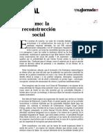 La Jornada- Sismo- la reconstrucción social