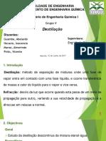 DESTILACAO- APRESENTACAO