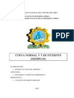 Ejercicios de Curva Normal y t de Students