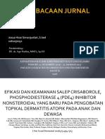 EFIKASI DAN KEAMANAN SALEP CRISABOROLE, PHOSPHODIESTERASE 4 ok.pptx