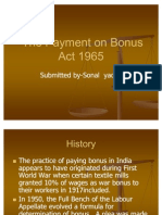 The Payment on Bonus Act 1965
