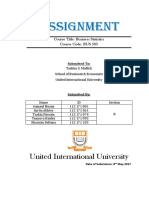 Statistics Assignment Final