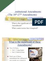 11th 18th Amendment