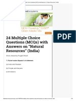 "24 Multiple Choice Questions (MCQs) With Answers on ""Natural Resources"" (India)"